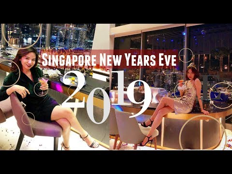 New Year's Eve Countdown 2019 in SKAI Bar Swissotel The Stamford in Singapore