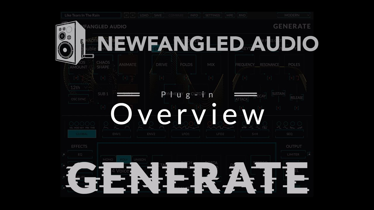 Newfangled Audio Generate Overview