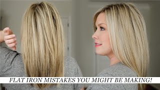 Flat Iron Mistakes You May Be Making & How to Fix Them!