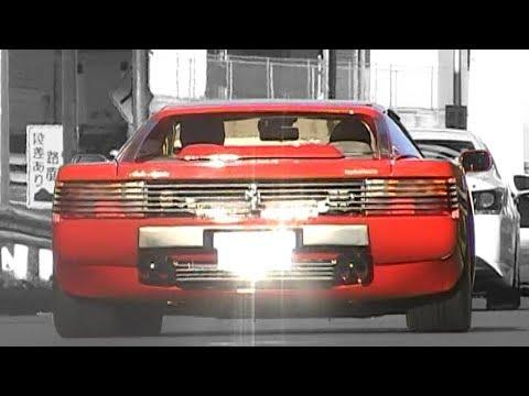【Daikoku PA】 Ferrari Testarossa engine sound! Muffler exhaust sound to accelerate! Exhaust sound! ◎===YouTube===おすすめ===車===動画===◎ ...