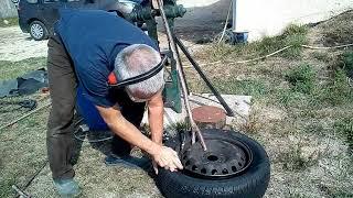 Gonfler un pneu tubeless