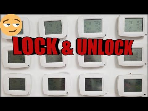 How To Lock Unlock Honeywell Thermostat Youtube