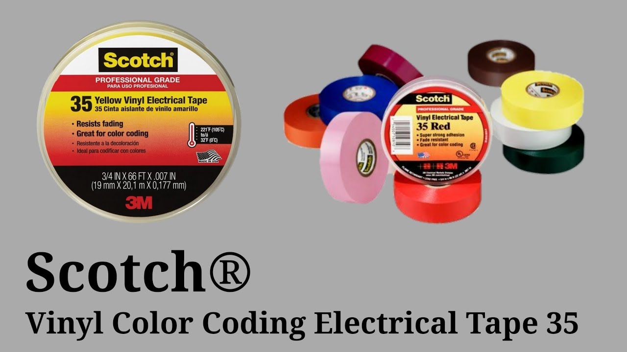 Scotch Vinyl Electrical Tape ( 3M ) Electrical Insulation tap