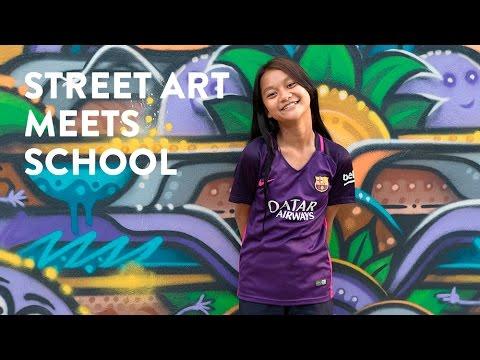 Street Art Meets School #StreetART - Kbach Gallery Video