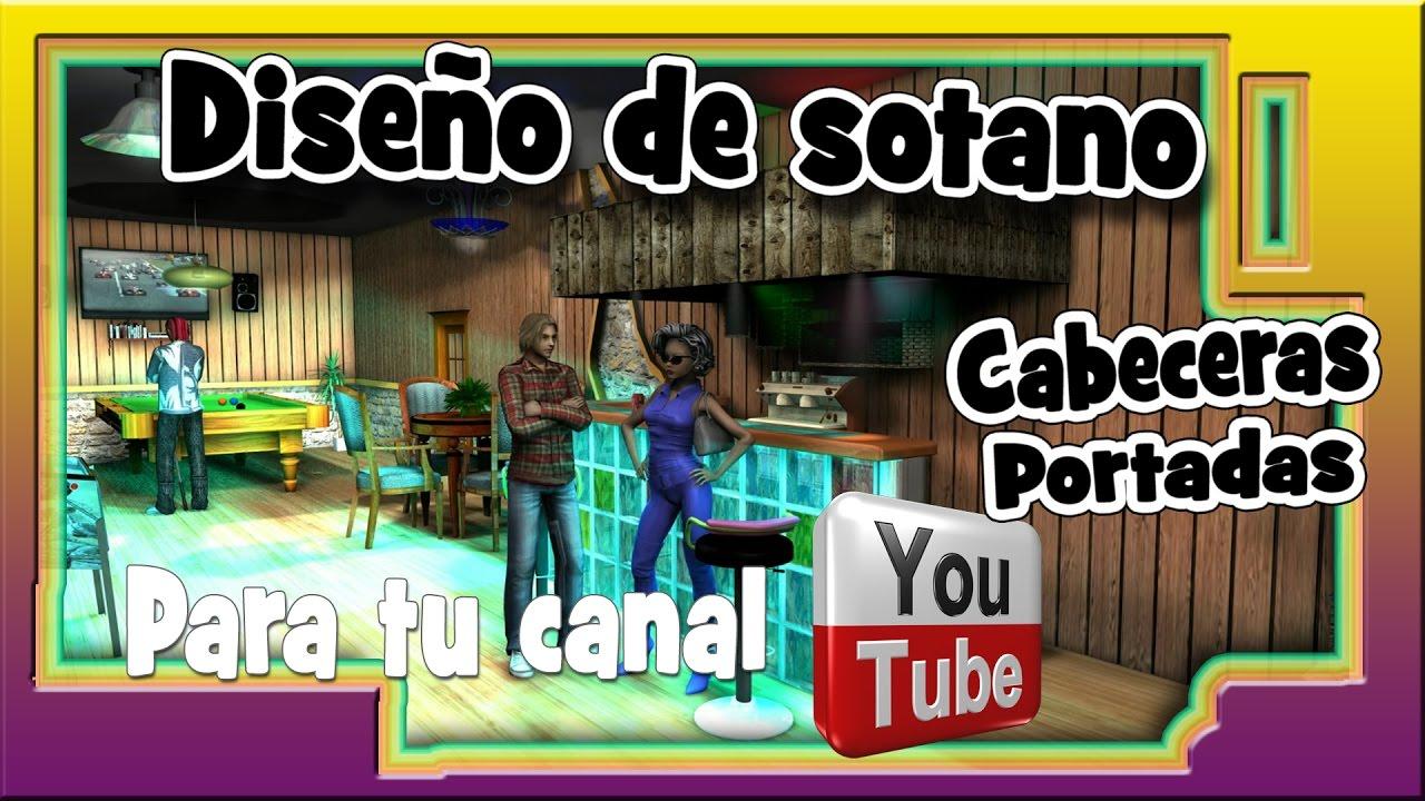 Dise o sotano chalet con cinema 4d proyecto real youtube for Disenos de chalets rusticos