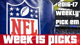 NFL Week 15 Picks (2016-17 NFL Season Predictions) Predicting All NFL Games Every Week 🏈