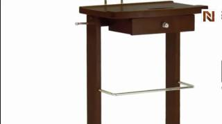Winsome Valet Stand With Mirror, Drawer, Tie Hook, Casters 94155