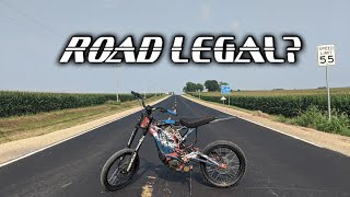 Sur-ron X Legal On The Road? |  Not Registrable?