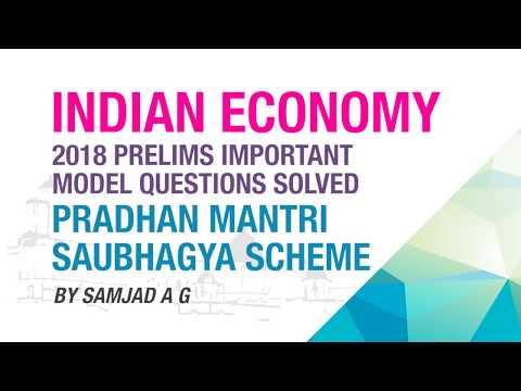 SAUBHAGYA SCHEME | PRELIMS IMPORTANT MODEL QUESTION SOLVED | INDIAN ECONOMY | NEO IAS