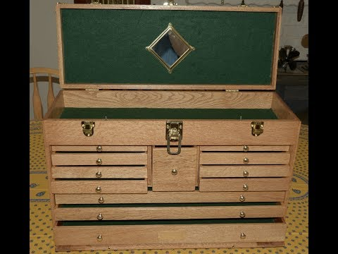 Gerstner style wood tool chest built part 9, felt and mirror