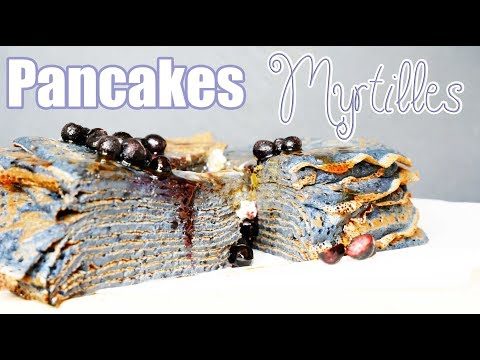 pancakes-aux-myrtilles-facile-🥞