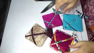 Cute Kite Coin pouch DIY, Small pouch making at home, Leftover cloth bag making, purse, by Soul Art