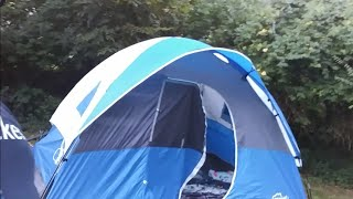 OVERNIGHT CHALLENGE IN A TENT!!!