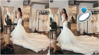 TRYING ON WEDDING DRESSES + GET READY WITH ME | Franceska Garza Vlog