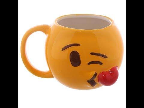 Emoticon Blowing Kisses Ceramic Mug ( XOXO )