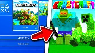 Minecraft PS4 Bedrock - How To Install CrazyCraft Modpack | Minecraft PS4 Bedrock Tutorial l