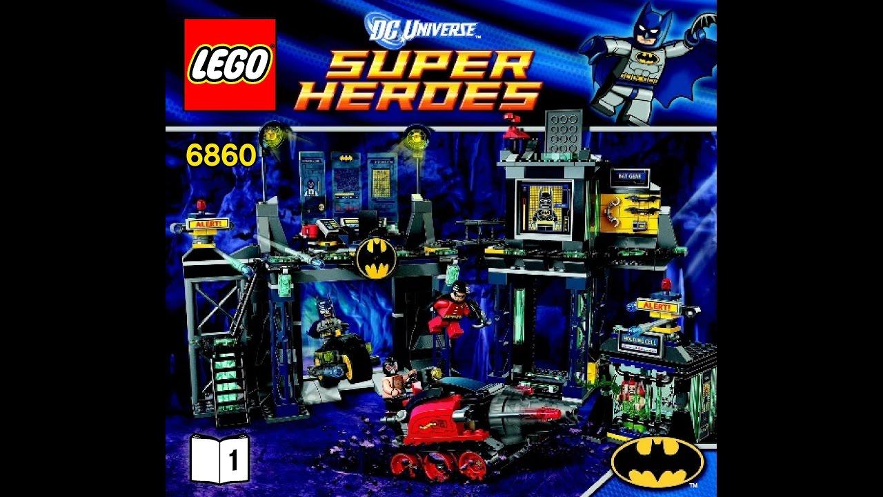 Instructions for lego 6860 batman the batcave instruction.