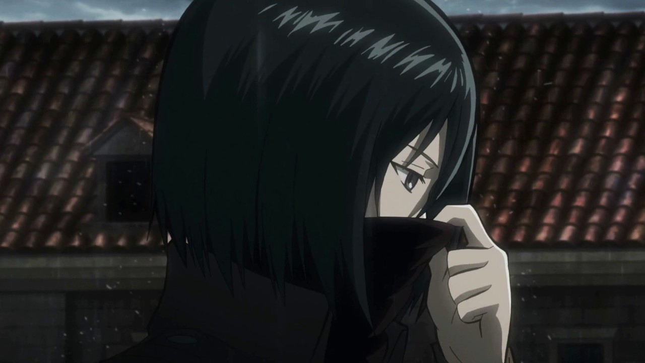 Live Anime Wallpaper Shingeki No Kyojin Eye Water 進撃 Mikasa Rain Hd 1080p