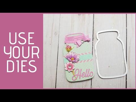 Easy Mason Jar Card. Pinterest Crafts #7.