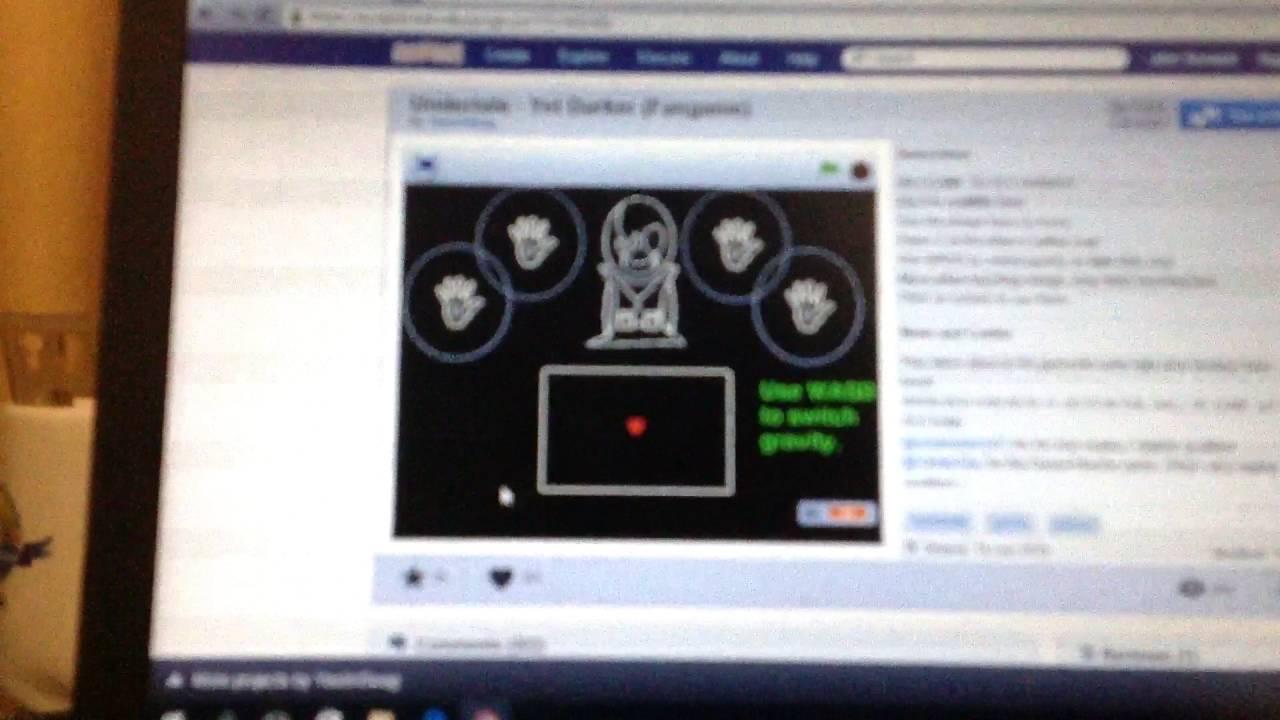 Undertale Gaster Fanmade Game Website On Scratch