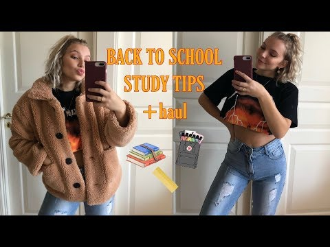 BACK TO SCHOOL VLOG | my best study tips, school supplies haul, cooking & more thumbnail
