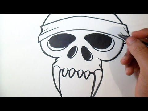 Como Desenhar Crânio Do Demónio Grafite