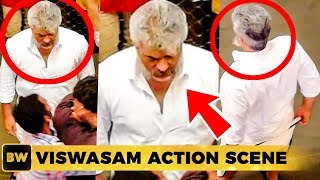 Viswasam Cage Fight Scene - Thala Ajith's Super Swag Look!
