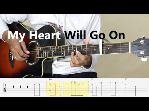 My Heart Will Go On - (Simple Arrangement) Fingerstyle Guitar Tutorial TAB