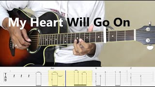 Download Lagu My Heart Will Go On - (Simple arrangement) Fingerstyle Guitar Tutorial TAB mp3