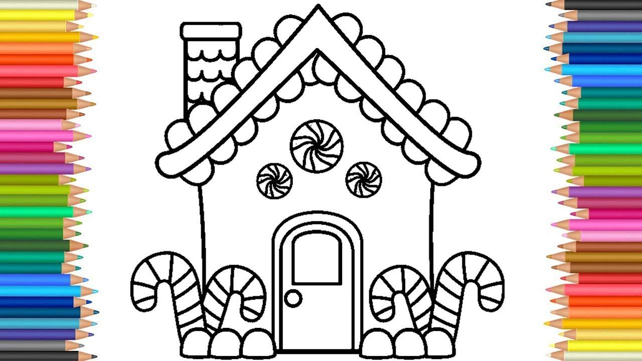 Mewarnai Gambar Rumah Permen Untuk Anak TK Dan Lomba