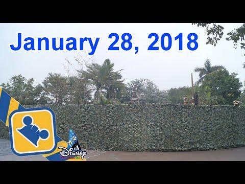 Construction Update:NEW Adventureland Show Place | Hong Kong Disneyland (Jan 28, 2018)