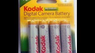 Обзор Kodak AA 2100mah NiMH аккумуляторы для цифровой камеры