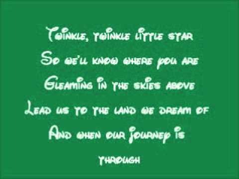 Peter Pan-The Second Star To The Right Lyrics