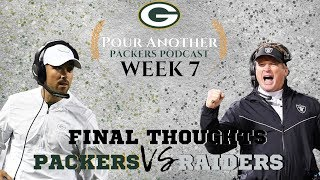 Packers vs Raiders | Week 7 | Final Thoughts