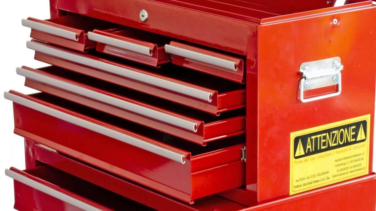 Carrello portautensili porta attrezzi con cassettiera for Carrello bricoman