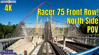 Racer 75 In 4K | Front Seat | North Side | POV | Kings Dominion | 2018