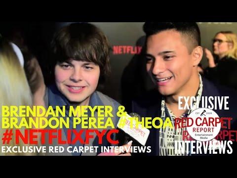 Brendan Meyer & Brandon Perea TheOA at Netflix's FYSee Space kickoff party NetflixFYSee