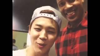 150728 Cute Jimin with Tony Jones #JONY (방탄소년단)