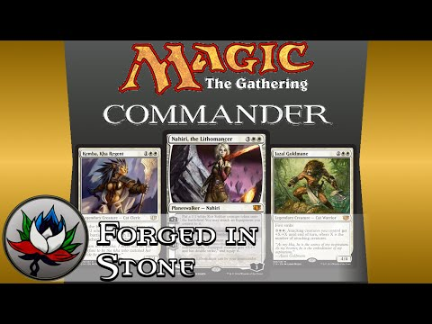 "Mono White ""Forged in Stone"" Commander 2014 Deck Tech featuring Nahiri, the Lithomancer!"