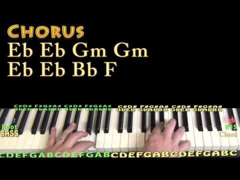 Hallelujah (Pentatonix) Piano Lesson Chord Chart in Bb Major