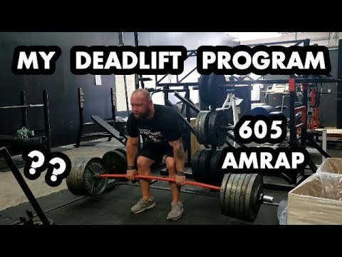 655/605lb Deadlift AMRAP PLUS My Off-Season Volume Program + Contest Peak - Strongman Nationals Prep