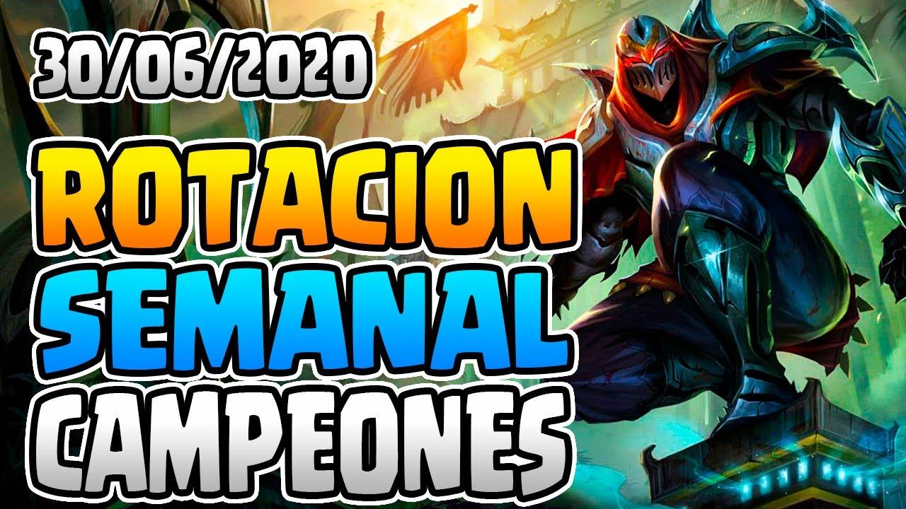 CONSEJOS ROTACION SEMANAL CAMPEONES 30/06/2020   GUIA LOL