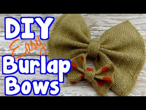 Diy Crafts How To Make Burlap Bows For Bow Ties And Gift Wrap