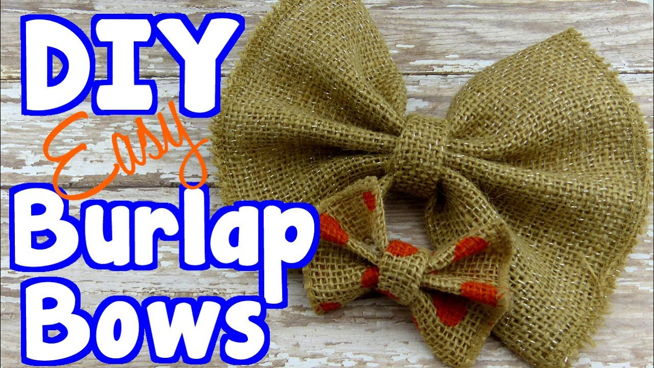 DIY Crafts How To Make Burlap Bows For Bow Ties and Gift