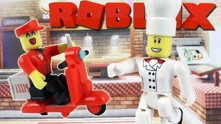 ROBLOX - WORKING AT A PIZZA PLACE! (Builder Brothers Pizza)