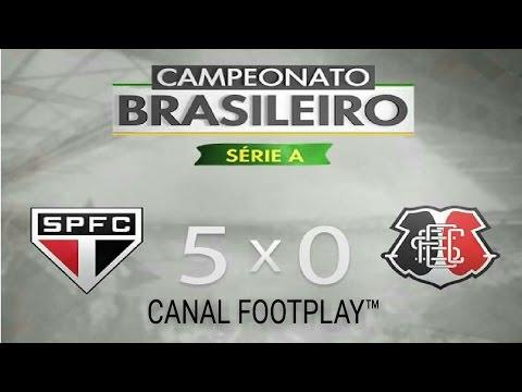 SÃO PAULO 5 x 0 SANTA CRUZ 11/12/16 | MELHORES MOMENTOS DO BRASILEIRÃO 2016