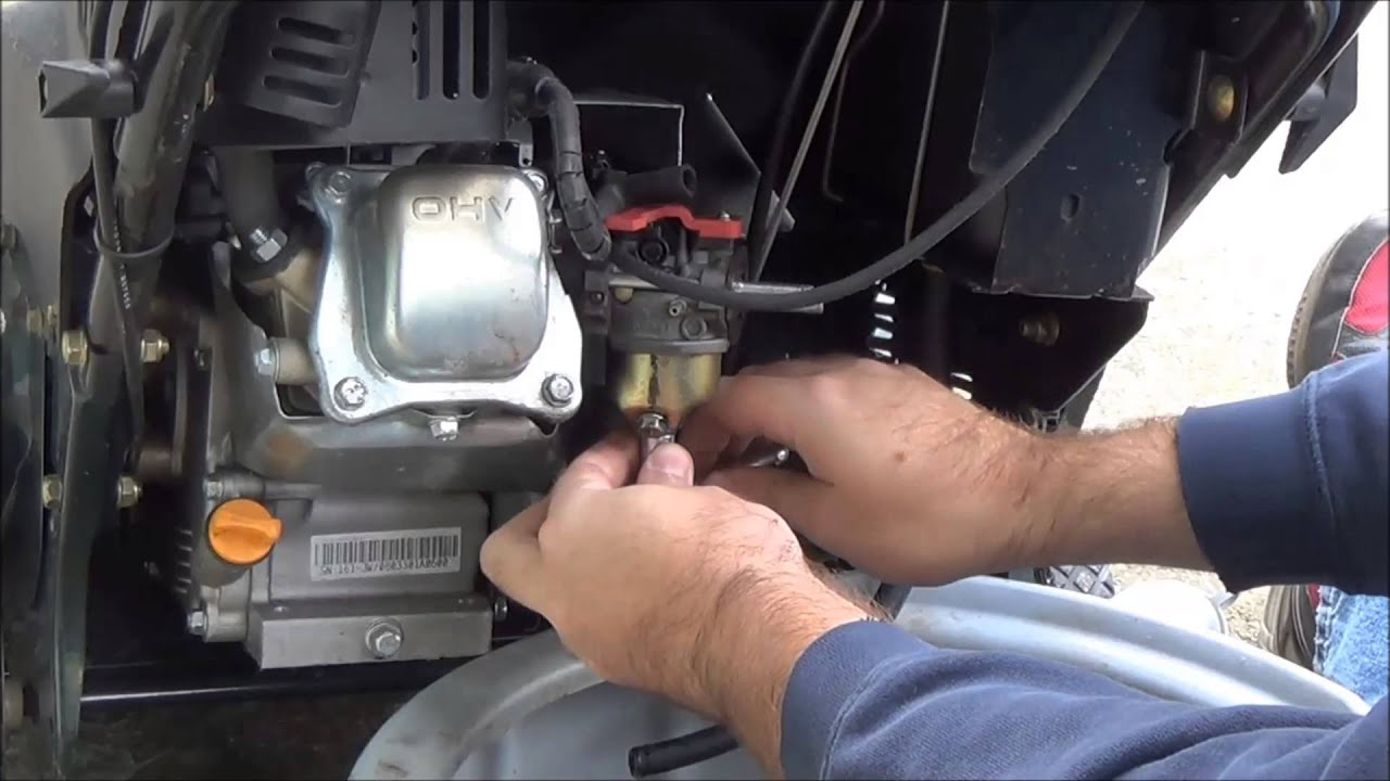 How To Repair Snow Blower Carb Engine Only Runs With