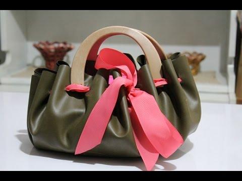 b3e18396db TUTORIAL: Come fare una BORSA senza le cuciture/ Bag Handmade - YouTube