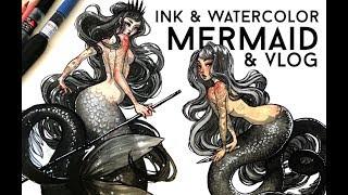 INK MERMAIDS & VLOG // JACQUELIN DELEON