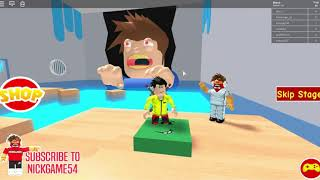 Copes two obbies in Roblox